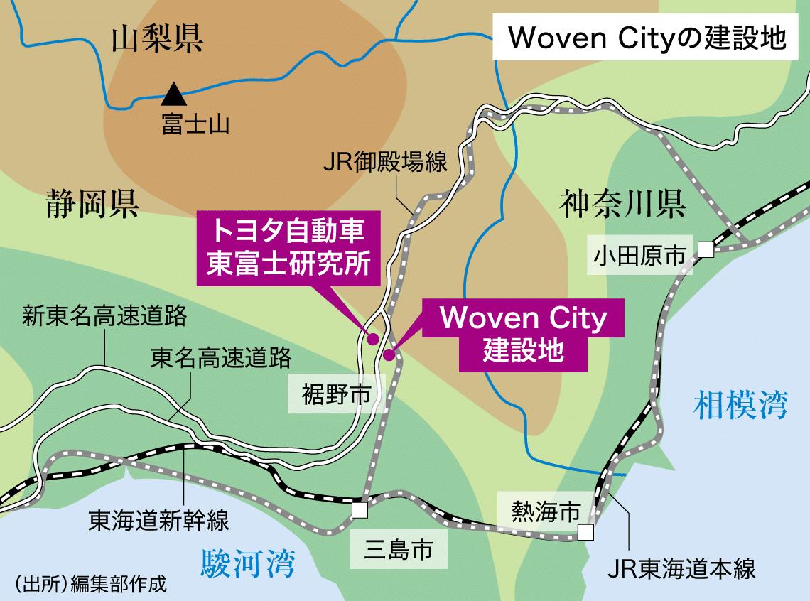 Woven Cityの建設地