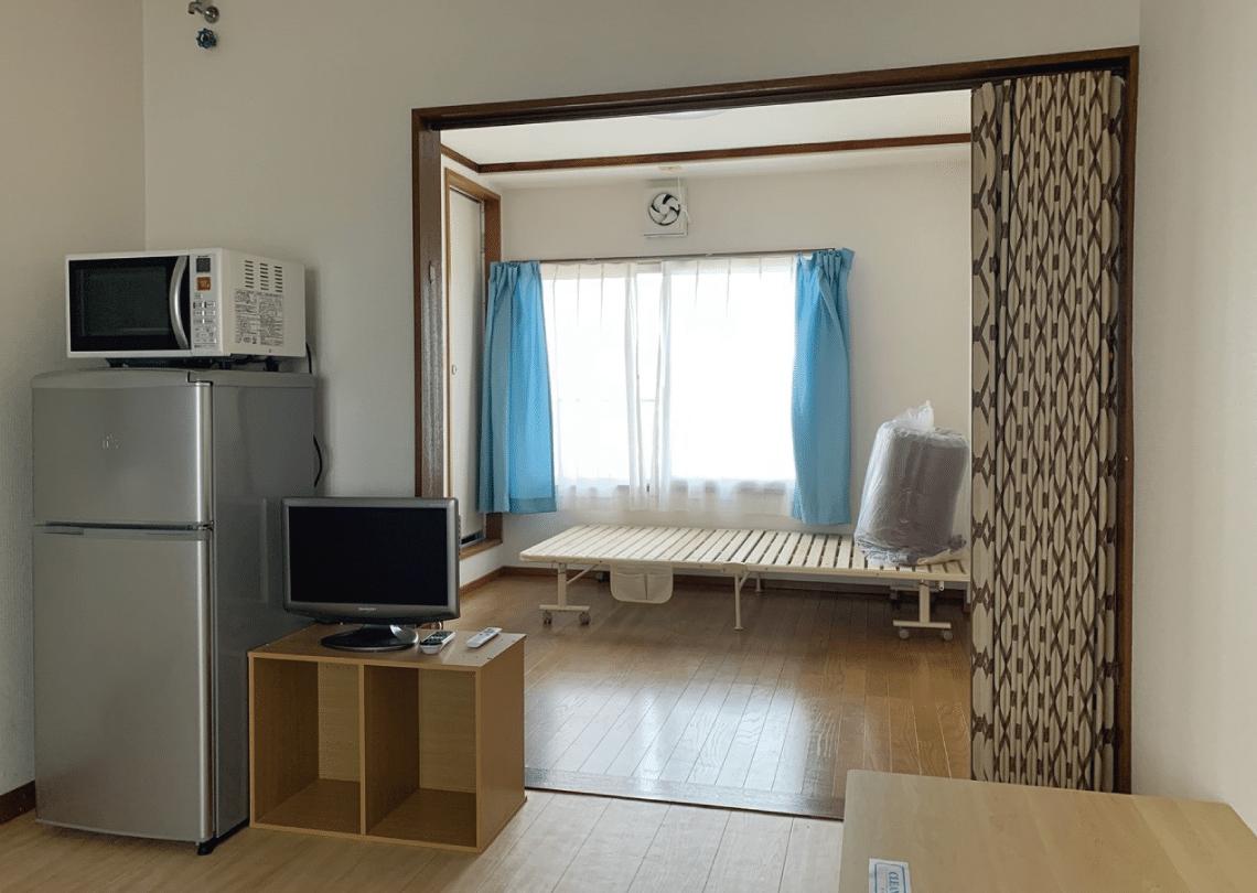 入居してすぐに生活できるよう、家具家電を設置した賃貸物件